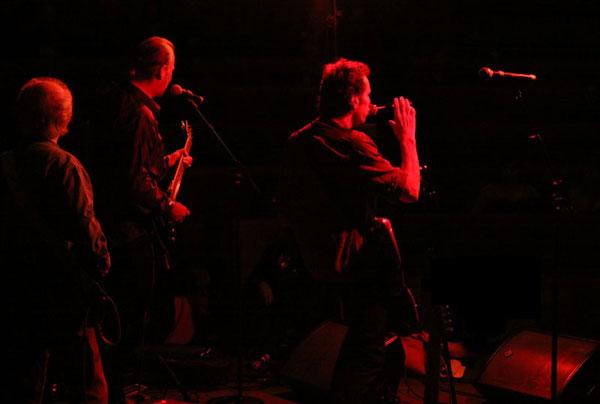 The Blue Bishops onstage...
