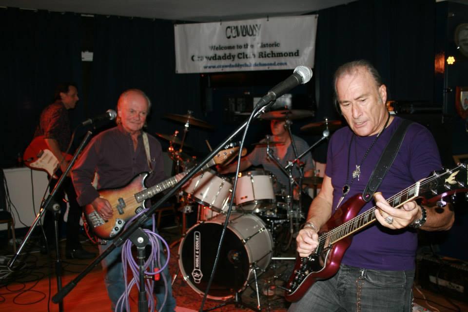 Geoff Grange, Jim Rodford, Justin Hildreth and Simon Burrett . The Blue Bishops at the Crawdaddy.